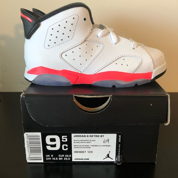 the latest 51079 c5131 NIKE AIR JORDAN 6 RETRO SIZE 9.5C WHITE INFRARED